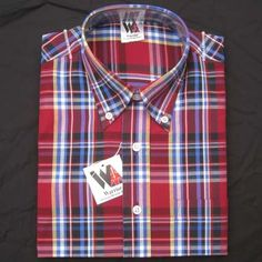 Vintage Button Down Shirt by Warrior Clothing- BARSON