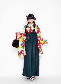 Furifu ふりふ Shin ume tsubaki hakama 新梅椿 袴 (New plum camellia hakama) - Furifu rental kimono - 2014