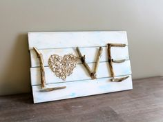 Distressed Love Sign - Ready to Ship by Creazi on Etsy