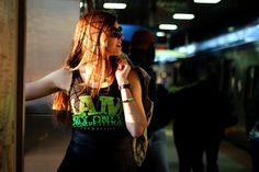 tank, black and neon green. Thanks to our wonderful model, Lauren. Casual Wear For Men, Emo Scene, Punk Goth, Neon Green, Activewear, Dreadlocks, Women's Fashion, Lifestyle