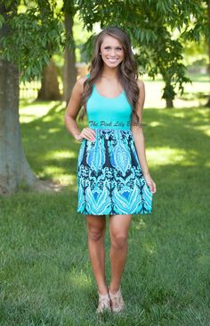 The Pink Lily Boutique - Bombshell Beauty Aqua Mini Dress , $36.00 (http://thepinklilyboutique.com/bombshell-beauty-aqua-mini-dress/)