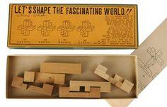 Vintage 1970s Japanese Wooden Puzzle Toy by Yamanaka Kumiki Works