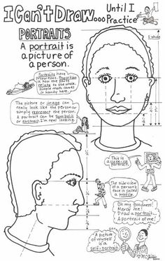 Facial Proportions, Advanced. Other handouts include figures and letters.