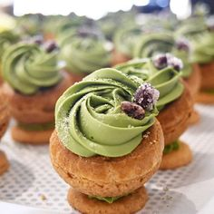 Looking through some of my older photos and came across this oldie: matcha choux choux. Mini-choux…