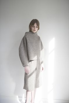 The Gray Lady: Fall's Oversize Layers and Woolens — Photos | Wool ...