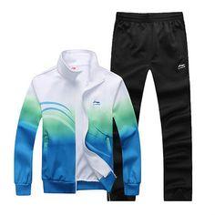 New Brand Li-Ning Men's Activewear Sports Running Badminton Tracksuit Suit