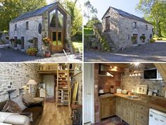 Absolutely captivating!!  This would so work for me! Old Stone Barn Becomes Cottage