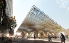 COBE and Lundén Win Competition to Design Transport Hub in Tampere,© Luxigon, courtesy of COBE and Lundén Architecture