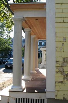 Greek Revival Porch   You can see what I mentioned in a prior post where the base of the ...