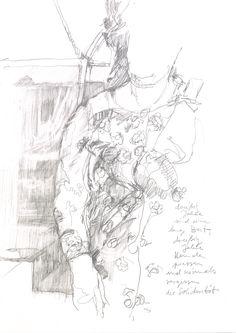 Guido Michl, Wäscherin, Graphit auf Papier, 29,7 x 21 cm, 2008, 250 €