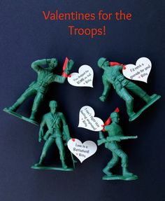 Salute Love…Army Men Valentines #valentinesday #armymen