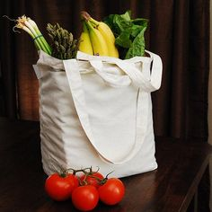 Aunt Martha's 17-Inch by 15-Inch Reusable Cotton Grocery Bag