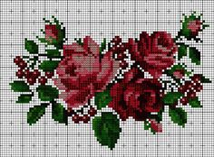 Cross Stitch Rose, Cross Stitch Samplers, Cross Stitch Flowers, Cross Stitch Charts, Cross Stitching, Bead Loom Patterns, Modern Cross Stitch Patterns, Hardanger Embroidery, Cross Stitch Embroidery