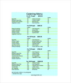 Need help to write catering letter proposal see these samples and catering menu template resume templatesproposal spiritdancerdesigns Images