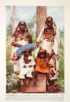 Native Women & Children Zanzibar 1938