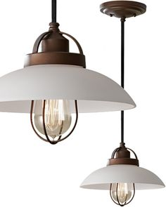 """Murray Feiss Urban Renewal Mini Pendant P1241BZP  P1241BZPRetail Price: $99.00  Ask about Discounts on Murray Feiss  Finish: Bronze Patina Glass: White Opal Etched Dimensions: W: 10"""" H: 7 1/16""""  Lamping: (1) Medium A21 100w Max. Details: Supplied with 180"""" of wire Canopy: Depth: 1 5/16"""" Diameter: 5 1/2"""" Coastal Style Pendants - Brand Lighting Discount Lighting - Call Brand Lighting Sales 800-585-1285 to ask for your best price!"""