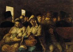 Honore Daumier. A wagon of the third class