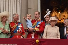 Prince George joins the family for his first Trooping The Colour celebration. 6/13/2015