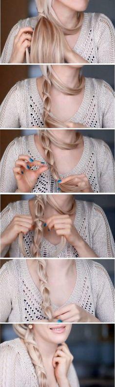 Crisscross Ponytail | Hair Pictorial