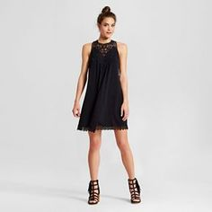 Women's High-Neck Shift Dress - Xhilaration™ (Juniors')
