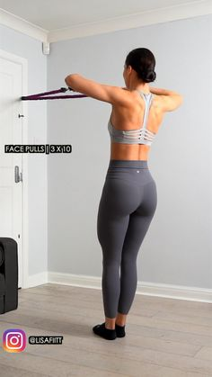Fitness Workouts, Gym Workout Videos, Gym Workout For Beginners, Fitness Workout For Women, Sport Fitness, Fitness Tips, Back Fat Workout, Band Workout, Slim Waist Workout