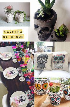 Caveiras na decoração: Conheça os significados e como dar um toque de estilo na sua casa