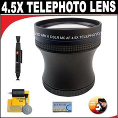 Introducing 45X Proffessional HD Mark II Special Edition Telephoto Lens For The Canon EOS 5D Mark III 60Da 1D C 6D T4i 650D Digital SLR Camera Which Has Any Of These 24105mm 2470mm 1635mm 1740mm 2035mm 1022mm 1755mm 100400mm 70200mm f28L Canon Lenses. Great Product and follow us to get more updates!