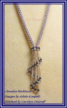 Seed Bead Necklace, Seed Bead Jewelry, Bead Jewellery, Diy Necklace, Jewelery, Necklaces, Beaded Bracelet Patterns, Jewelry Patterns, Beaded Bracelets