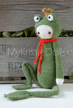 Crochet Pattern Krissie the Frog King von MyKrissieDolls auf Etsy