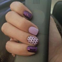 Love Nails, Pink Nails, How To Do Nails, Leopard Nails, Short Nail Designs, Colorful Nail Designs, Purple Nail Designs, Nail Color Combos, Nail Colors