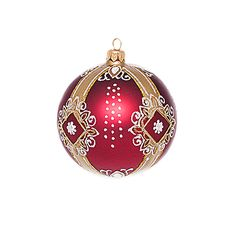hand painted bauble with royal ornaments | Christmas decorations