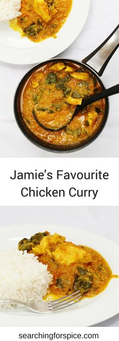 Delicious homemade chicken curry from Jamie Oliver's Happy Days with the Naked Chef. This delicious curry is easy to make, not too hot and a perfect alternative to a takeaway Come and see our new website at bakedcomfortfood.com!