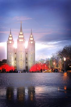 Salt Lake City Temple. This is BEAUTIFUL! Never seen a picture like this one