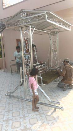 Home Gate Design, Steel Gate Design, Iron Gate Design, Iron Furniture, Steel Furniture, Window Grill Design, Stair Railing Design, Steel Railing, Workshop Storage