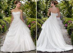 White Ivory Bride Wedding Dress 152