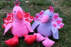 Love Bird Valentine Plush Toy. $23.00, via Etsy.