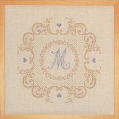 "Rouge Du Rhin is one of references of textile design and decoration ""Made in France"" Cross Stitch Alphabet, Cross Stitch Embroidery, Cross Stitch Designs, Cross Stitch Patterns, Shabby Chic Colors, Renaissance, Monochrom, Alphabet And Numbers, Textile Design"