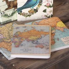 Pack of 3 Mini Notebooks - Vintage Maps