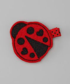 Take a look at this Red Ladybug Clip by Feltzees on #zulily today!