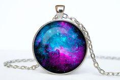 Nebel Halskette Nebula Hängeleuchte Galaxy von Necklacesbymermaid