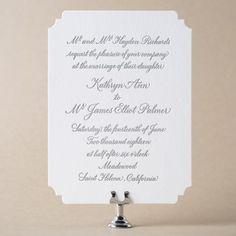 Napa Wedding Invitation Design