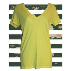 PiNK Yellow V-neck Sz S Classic low cut plunge v-neck tee in the cheeriest sunny yellow. Cotton/polyester blend. By Victoria's Secret PINK. Size Small. Pre-owned. No holes, rips, or stains.  Measurements & additional photos upon request   BUNDLE & SAVE! 15% off 2 or more items!   ID: C37 PINK Victoria's Secret Tops Tees - Short Sleeve