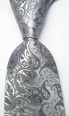 mens fashion tips Mens Silk Ties, Men Ties, Silver Tie, Paisley Tie, Jacquard Weave, Suit And Tie, Well Dressed Men, Wedding Suits, Mens Fashion