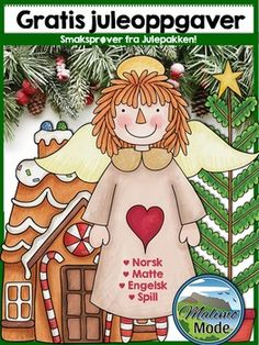 """Dette er en """"smaksprve"""" av den komplette julepakken - en pakke som har et bredt… Christmas Crafts For Kids, Christmas Activities, Christmas Themes, All Things Christmas, Merry Christmas, Math Crafts, Diy And Crafts, Free Teaching Resources, Teaching Ideas"""