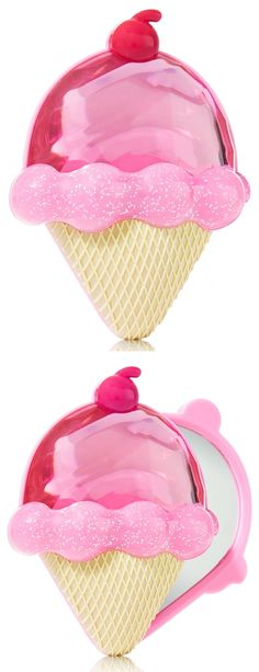 Ice Cream Cone Compact Mirror<3