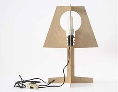 Flat-Pack, Energy Efficient Lamp Pays Homage to the Dying Incandescent Bulb Laser Cut Lamps, Nachhaltiges Design, Transforming Furniture, I Love Lamp, Wood Lamps, Incandescent Bulbs, Light Fittings, Sustainable Design, Innovation