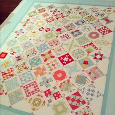 Casmille Roskelly's Farmers Wife quilt, I love the blocks set on point!