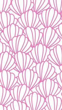 iPhone 5 wallpaper #preppy #seashells #pattern
