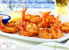 ~ Red Lobster Parrot Bay Coconut Shrimp with Pina Colada Dipping Sauce | Copycat Recipe  http://www.themommybloggerskitchen.com/red-lobster-parrot-bay-coconut-shrimp-with-pina-colada-dipping-sauce-copycat-recipe/
