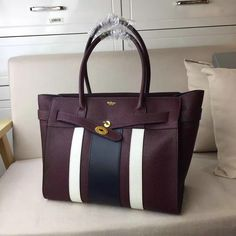2017 Discount Mulberry Zipped Bayswater Oxblood,White & Midnight Small Classic Grain